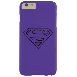 スーパーマンのS盾|のシンプルで黒い輪郭のロゴ iPhone 6 PLUS ベアリーゼアケース