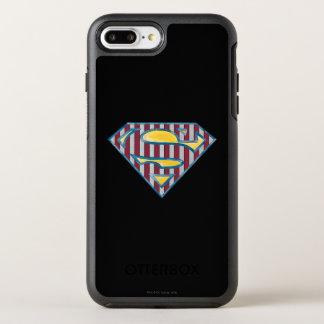 スーパーマンのS盾|のストライプのなロゴ オッターボックスシンメトリーiPhone 8 PLUS/7 PLUSケース