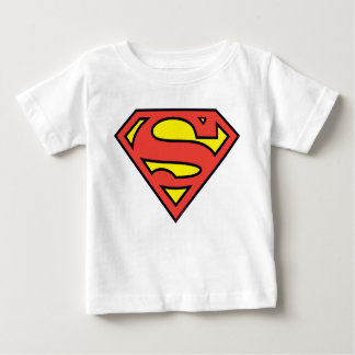 スーパーマンのS盾|のスーパーマンのロゴ ベビーTシャツ