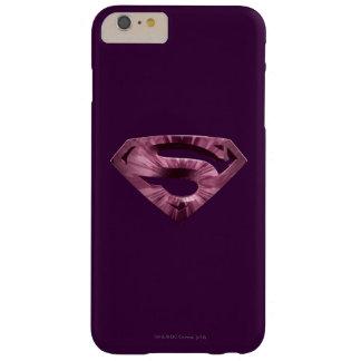 スーパーマンのS盾|のピンクの星の破烈のロゴ スリム iPhone 6 PLUS ケース