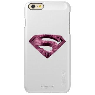 スーパーマンのS盾 のピンクの星の破烈のロゴ INCIPIO FEATHER SHINE iPhone 6 PLUSケース