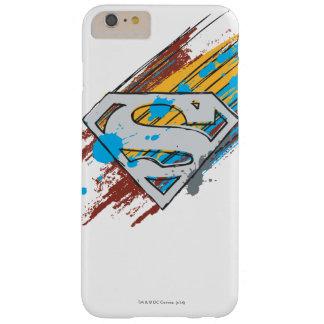 スーパーマンのS盾 のペンキの縞のロゴ BARELY THERE iPhone 6 PLUS ケース