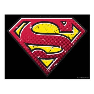 スーパーマンのS盾|の傷のロゴ ポストカード