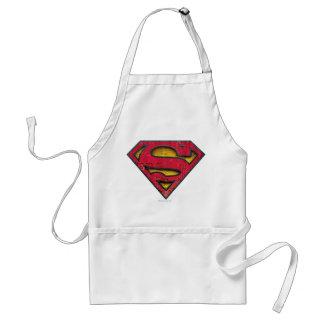 スーパーマンのS盾|の動揺してなロゴ スタンダードエプロン