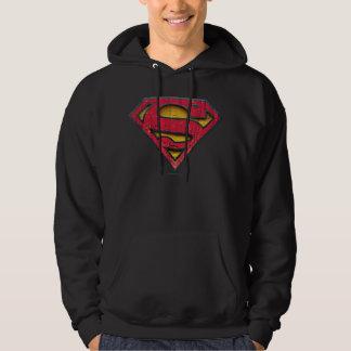 スーパーマンのS盾|の動揺してなロゴ パーカ