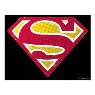 スーパーマンのS盾|の動揺してな点のロゴ ポストカード