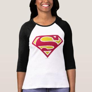 スーパーマンのS盾|の動揺してな点のロゴ Tシャツ
