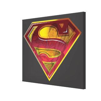 スーパーマンのS盾|の反射のロゴ キャンバスプリント