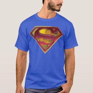 スーパーマンのS盾|の反射のロゴ Tシャツ