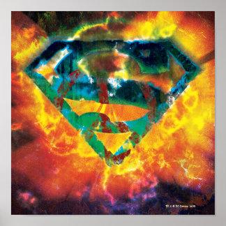 スーパーマンのS盾 の平和によって押されるロゴ ポスター