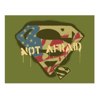 スーパーマンのS盾|の恐れていないロゴ ポストカード