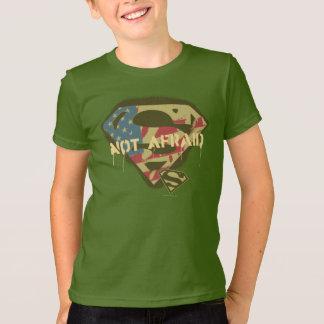 スーパーマンのS盾|の恐れていないロゴ Tシャツ