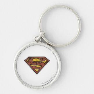 スーパーマンのS盾|の新聞のロゴ キーホルダー