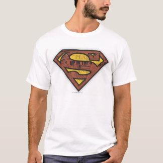 スーパーマンのS盾|の新聞のロゴ Tシャツ