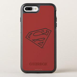 スーパーマンのS盾|の横にグランジなロゴ オッターボックスシンメトリーiPhone 8 PLUS/7 PLUSケース