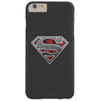 スーパーマンのS盾|の灰色および赤い都市ロゴ スキニー iPhone 6 PLUS ケース