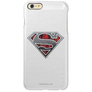 スーパーマンのS盾 の灰色および赤い都市ロゴ INCIPIO FEATHER SHINE iPhone 6 PLUSケース
