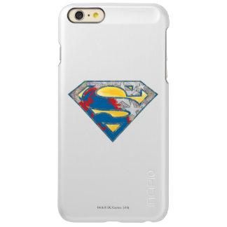 スーパーマンのS盾|の灰色の黄色く赤く黒い組合せのロゴ