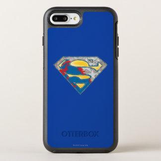 スーパーマンのS盾|の灰色の黄色く赤く黒い組合せのロゴ オッターボックスシンメトリーiPhone 8 PLUS/7 PLUSケース