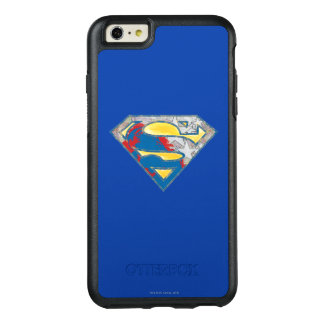 スーパーマンのS盾|の灰色の黄色く赤く黒い組合せのロゴ オッターボックスiPhone 6/6S PLUSケース