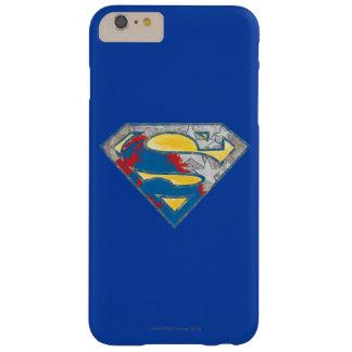 スーパーマンのS盾|の灰色の黄色く赤く黒い組合せのロゴ iPhone 6 PLUS ベアリーゼアケース