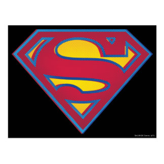 スーパーマンのS盾|の点のロゴ ポストカード