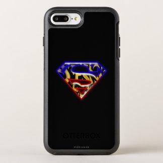 スーパーマンのS盾|の紫色赤い落書きのロゴ オッターボックスシンメトリーiPhone 8 PLUS/7 PLUSケース