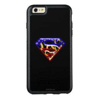 スーパーマンのS盾|の紫色赤い落書きのロゴ オッターボックスiPhone 6/6S PLUSケース