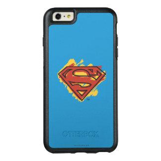 スーパーマンのS盾|の色彩の鮮やかで青い背景のロゴ オッターボックスiPhone 6/6S PLUSケース