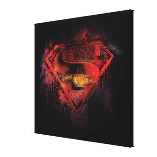 スーパーマンのS盾|の色彩の鮮やかなロゴ キャンバスプリント