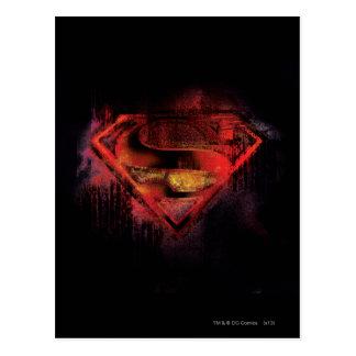 スーパーマンのS盾 の色彩の鮮やかなロゴ ポストカード