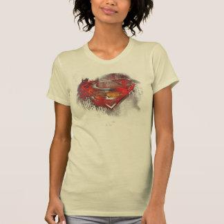スーパーマンのS盾|の色彩の鮮やかなロゴ Tシャツ