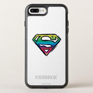 スーパーマンのS盾|の虹のロゴ2 オッターボックスシンメトリーiPhone 8 PLUS/7 PLUSケース
