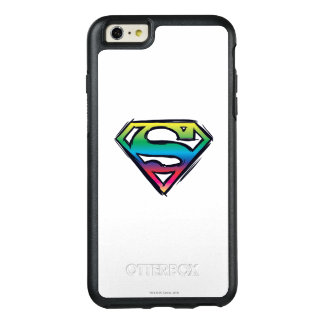 スーパーマンのS盾|の虹のロゴ2 オッターボックスiPhone 6/6S PLUSケース