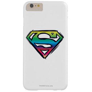 スーパーマンのS盾|の虹のロゴ スキニー iPhone 6 PLUS ケース