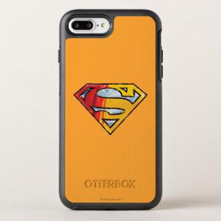 スーパーマンのS盾|の赤いおよびオレンジロゴ オッターボックスシンメトリーiPhone 8 PLUS/7 PLUSケース