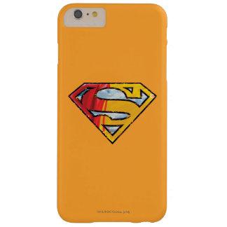 スーパーマンのS盾 の赤いおよびオレンジロゴ スリム iPhone 6 PLUS ケース