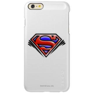 スーパーマンのS盾 の赤いエアブラシのロゴ