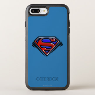 スーパーマンのS盾|の赤いエアブラシのロゴ オッターボックスシンメトリーiPhone 8 PLUS/7 PLUSケース