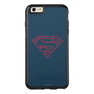 スーパーマンのS盾|の赤い輪郭のロゴ オッターボックスiPhone 6/6S PLUSケース
