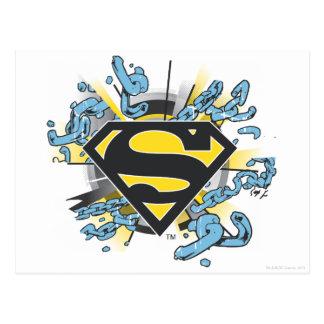 スーパーマンのS盾 の鎖のロゴ ポストカード
