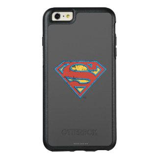 スーパーマンのS盾 の青い輪郭のグランジなロゴ オッターボックスiPhone 6/6S PLUSケース