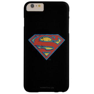 スーパーマンのS盾|の青い輪郭のグランジなロゴ スリム iPhone 6 PLUS ケース
