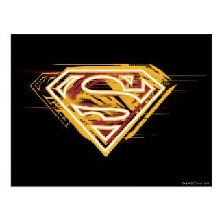 スーパーマンのS盾|の黄色および赤いロゴ ポストカード