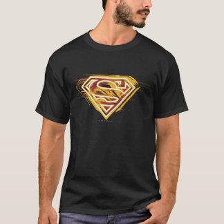 スーパーマンのS盾|の黄色および赤いロゴ Tシャツ