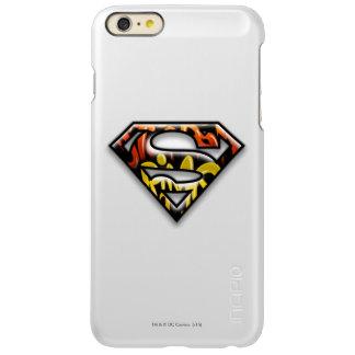 スーパーマンのS盾|の黒い輪郭の落書きのロゴ INCIPIO FEATHER SHINE iPhone 6 PLUSケース