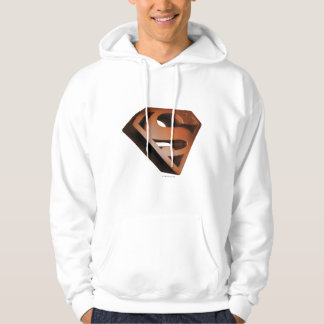 スーパーマンのS盾|の3D粒状のロゴ パーカ
