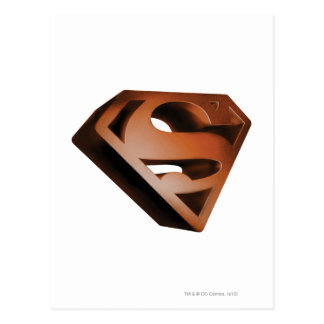 スーパーマンのS盾 の3D粒状のロゴ ポストカード