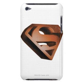 スーパーマンのS盾 の3D粒状のロゴ Case-Mate iPod TOUCH ケース
