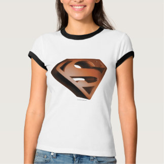 スーパーマンのS盾|の3D粒状のロゴ Tシャツ